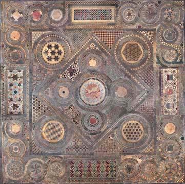 Westminster Abbey, Cosmati floor, photomosaic